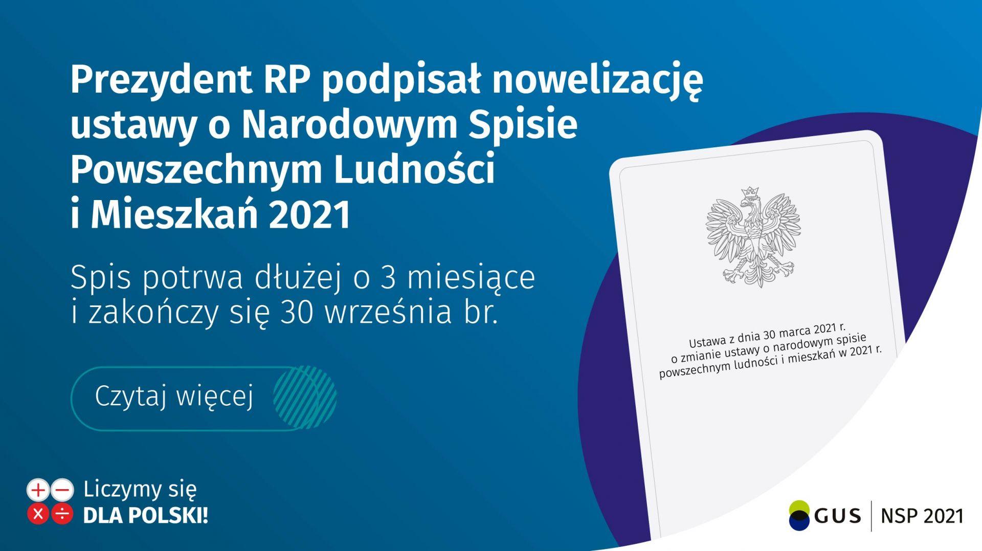 informacja o nowelizacji ustawy o narodowym spisie powszechnym