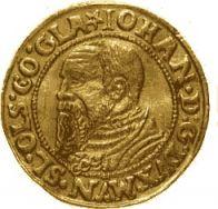 Profil Jana Podiebrada z monety złotej