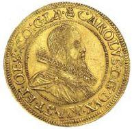 Profil Karola II z monety złotej