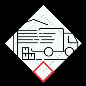 Handel, naprawa pojazdów samochodowych, transport i gospodarka magazynowa, zakwaterowanie i gastronomia, informacja i komunikacja ikona