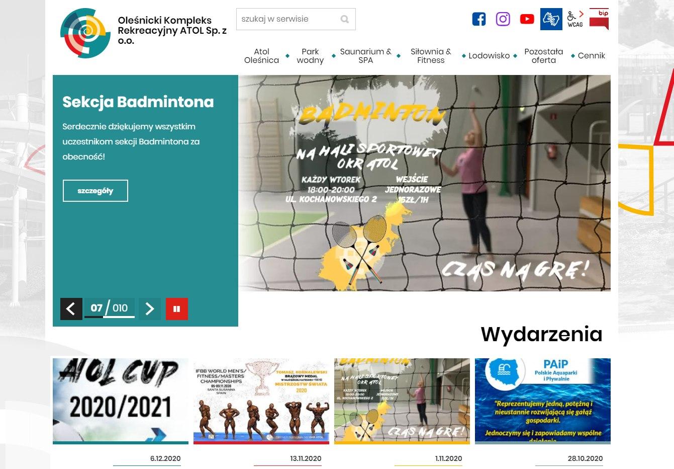Strona internetowa OKR Atol