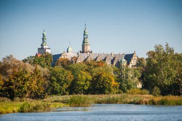 Widok na zamek ze stawów (Wały Jagielońskie)