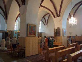 Kościół NMP po odbudowie i przekazaniu parafii prawosławnej. Fot. P. Szczegodziński